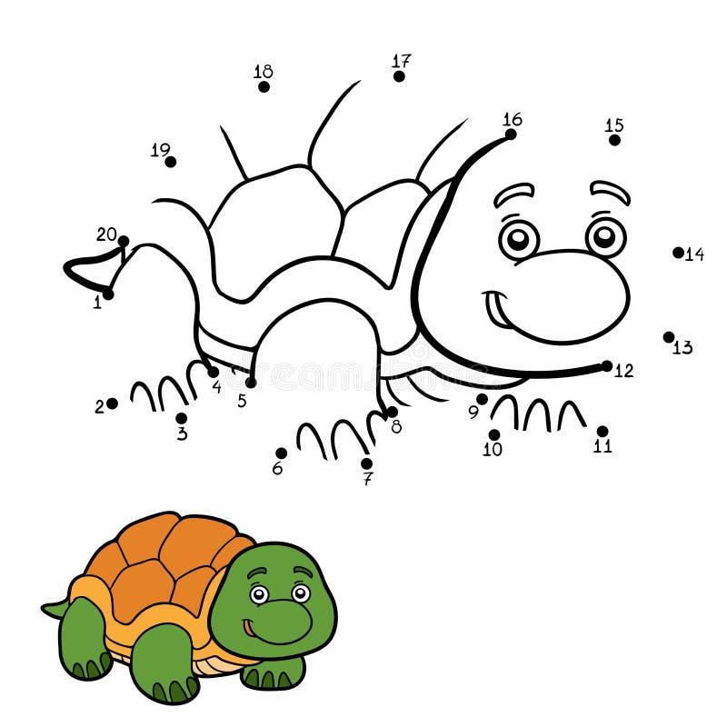 Juego De Números Para Los Niños (tortuga) Ilustración del Vector ...
