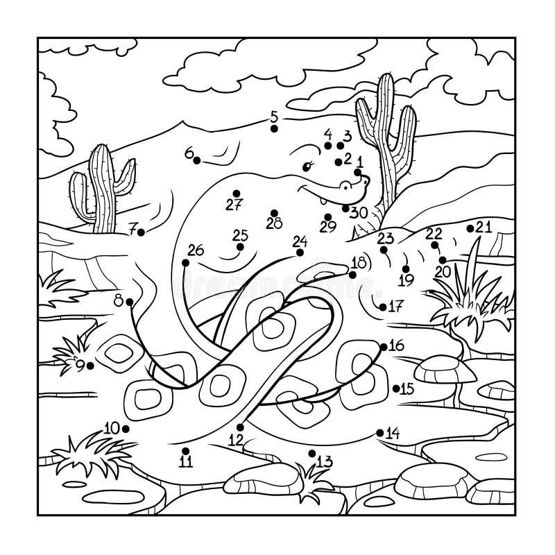 Juego De Números (serpiente) Ilustración del Vector - Ilustración de ...