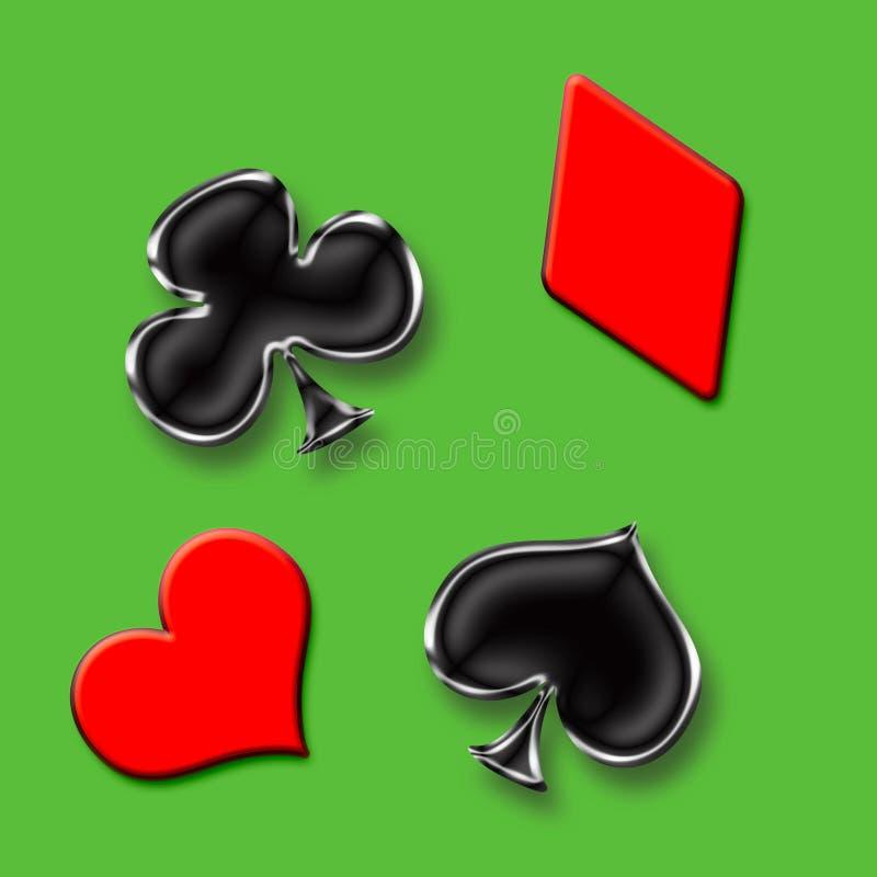 Juego de póker ilustración del vector