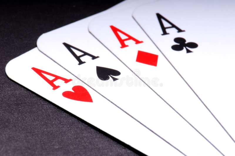 Juego de póker fotos de archivo