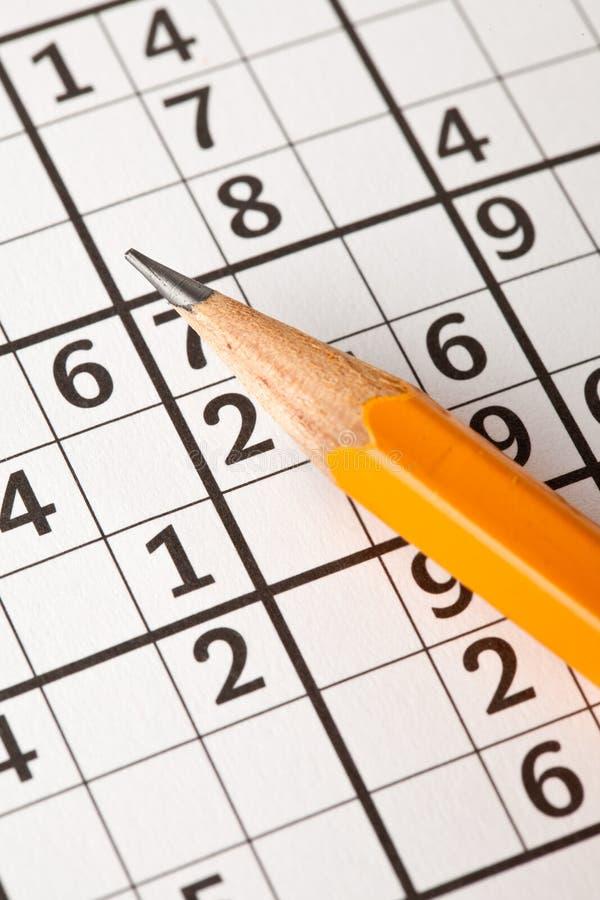 Juego de Sudoku fotografía de archivo