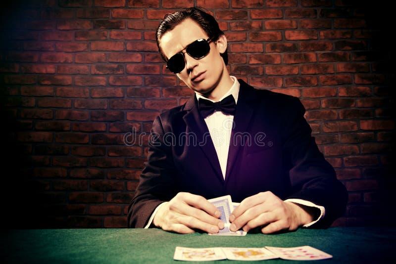Juego de tarjetas del casino imágenes de archivo libres de regalías