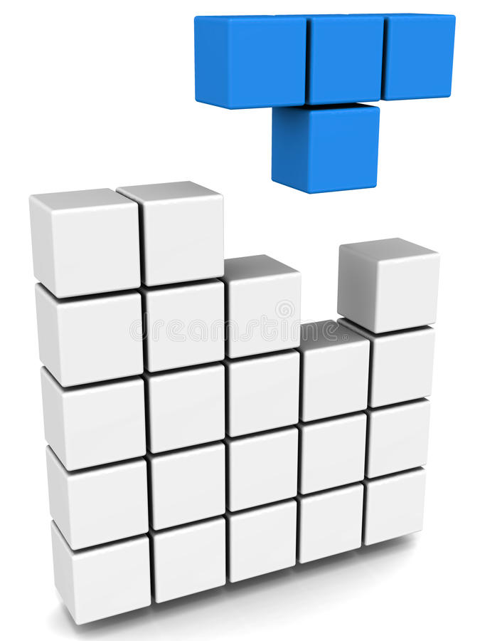 Juego de Tetris stock de ilustración