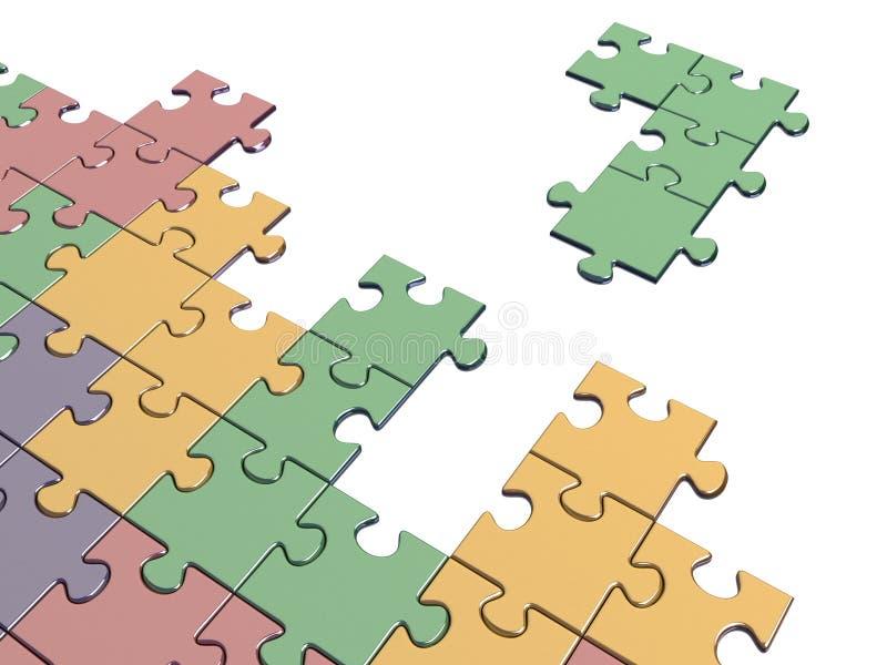 Juego de Tetris con el pedazo del rompecabezas libre illustration