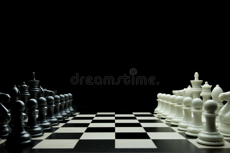 Juego del ajedrez fotografía de archivo libre de regalías