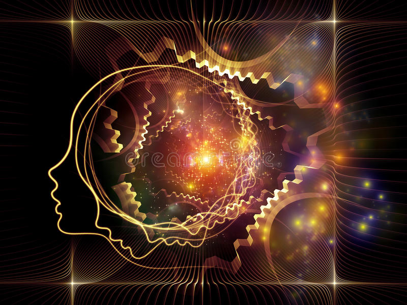 Juego del alma y de la mente stock de ilustración