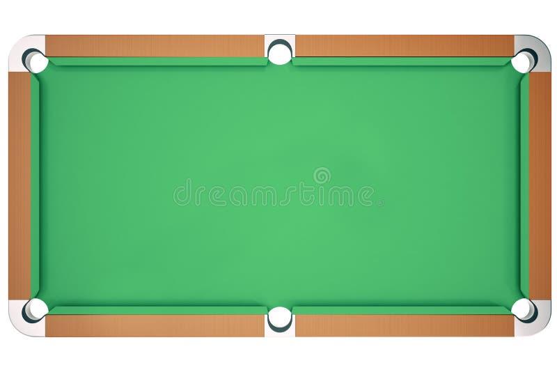 juego del billar de la piscina del top de la opinión del ejemplo 3D Billar americano de la piscina Juego del billar de la piscina stock de ilustración
