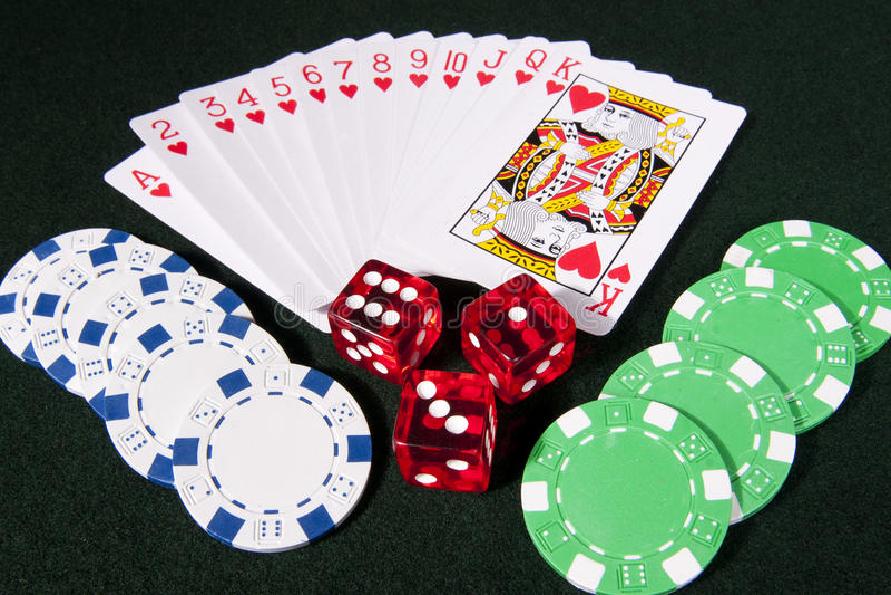 Juego del casino imágenes de archivo libres de regalías