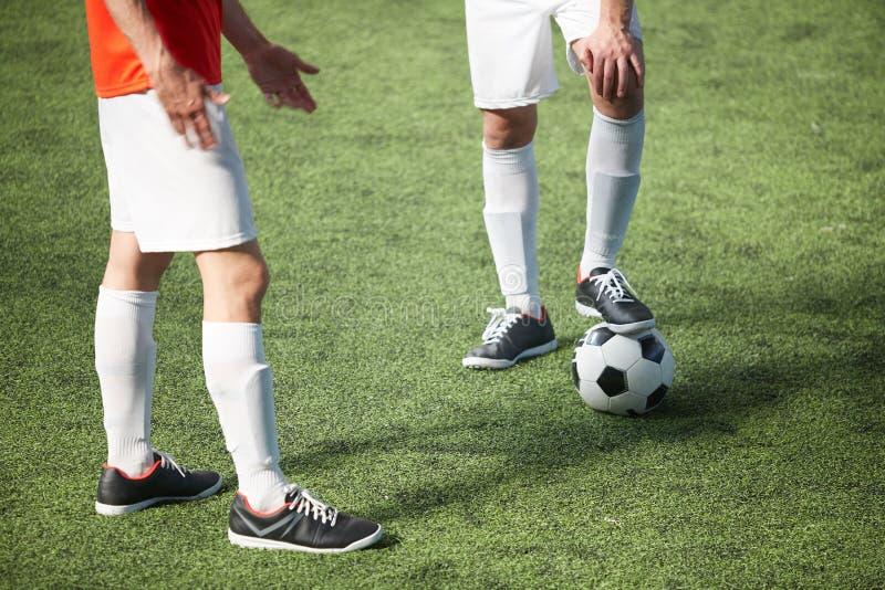 Juego del fútbol imágenes de archivo libres de regalías