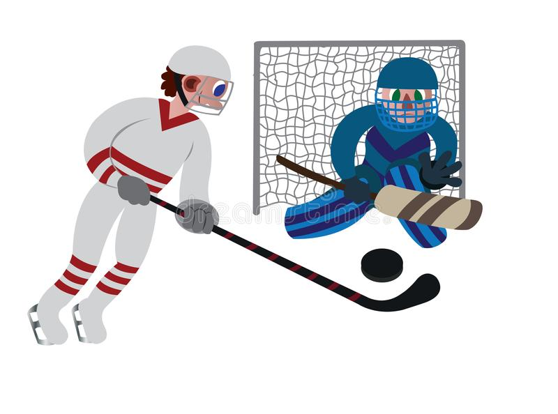 Juego del hockey sobre hielo stock de ilustración