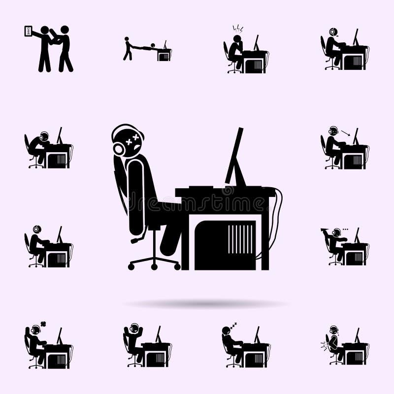 juego del hombre sobre icono sistema universal de los iconos del videojugador para la web y el m?vil libre illustration