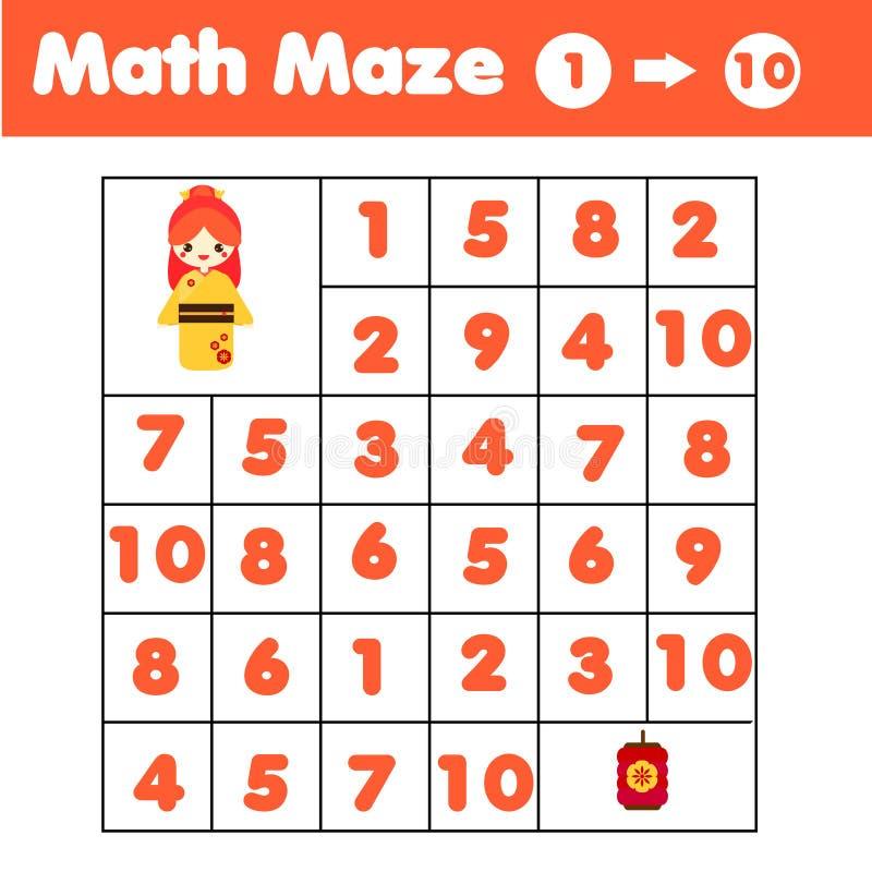 Juego Del Laberinto Laberinto De Las Matemáticas Con Números ...