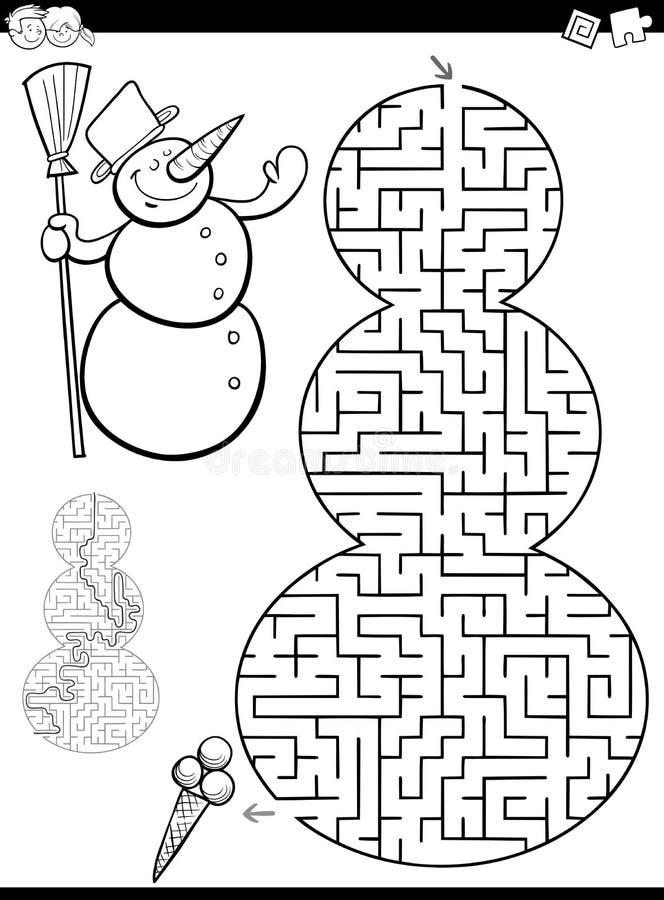 Juego del laberinto o del laberinto ilustración del vector