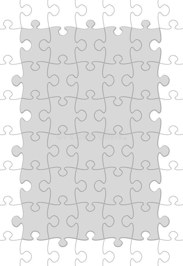 Juego del rompecabezas ilustración del vector