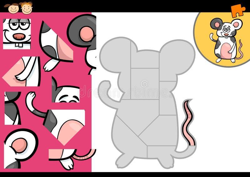 Juego del rompecabezas del ratón de la historieta libre illustration