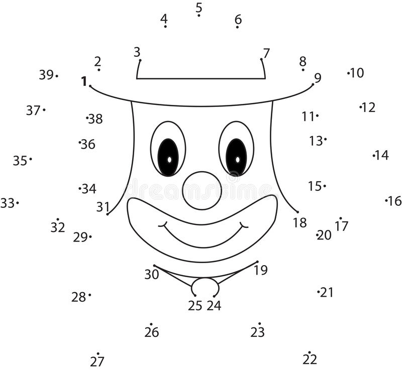 Juego del rompecabezas para los niños: payaso libre illustration