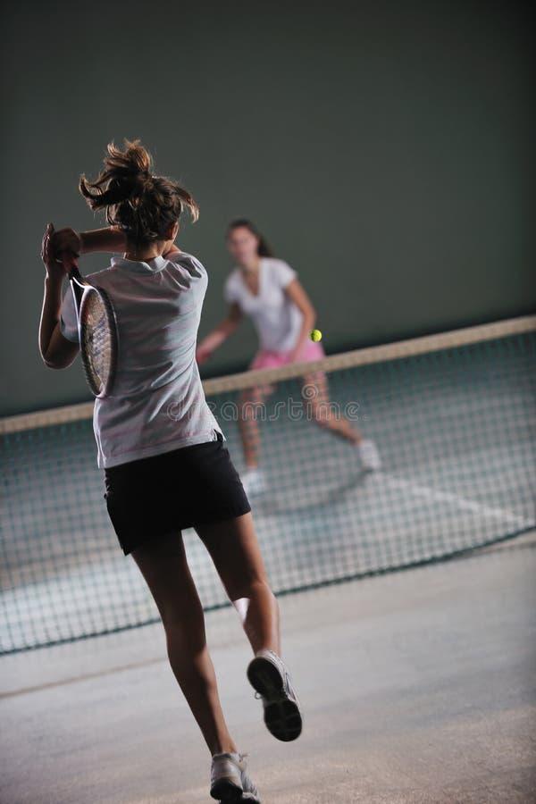 Juego del tenis fotografía de archivo libre de regalías