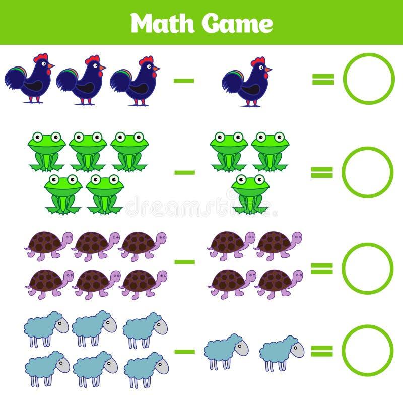 Juego Educativo De Las Matemáticas Para Los Niños Aprendiendo La ...