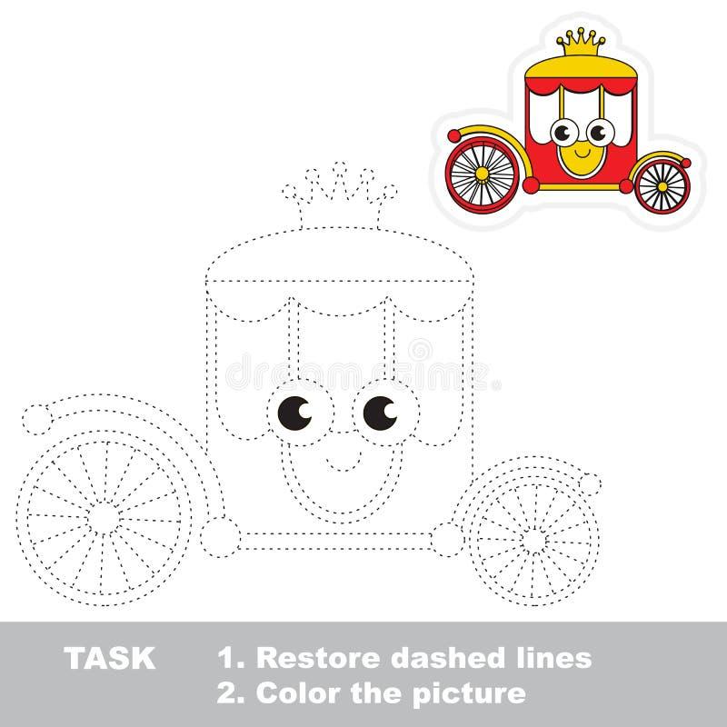 Juego educativo del rastro del vector para los niños preescolares ilustración del vector