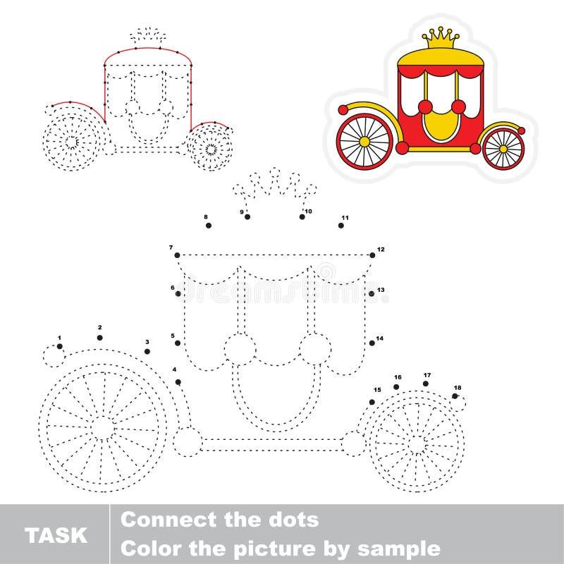 Juego educativo del rastro del vector para los niños preescolares stock de ilustración