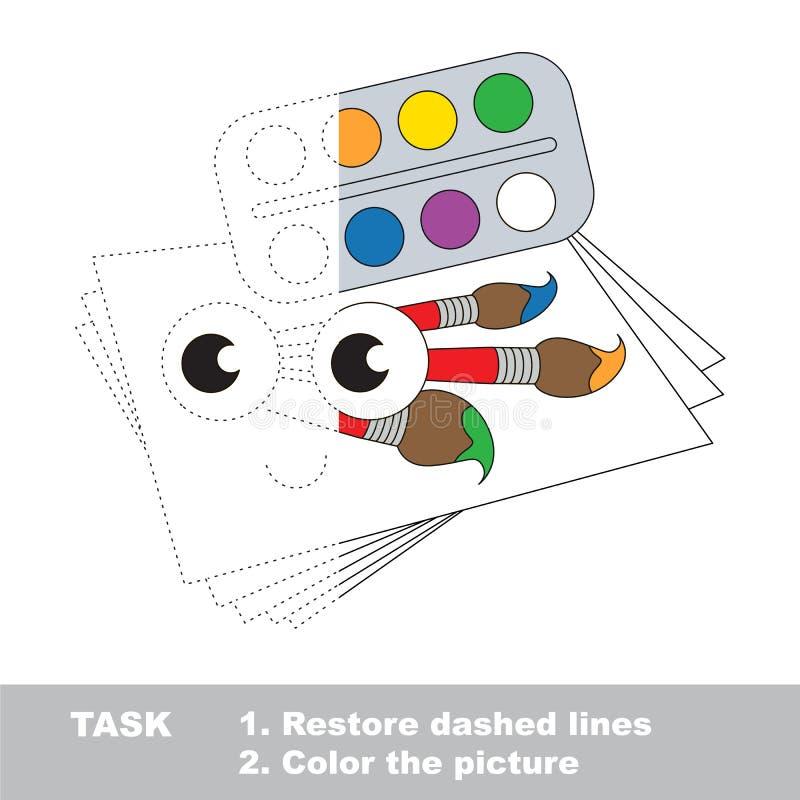 Juego educativo del rastro del vector para los niños preescolares libre illustration