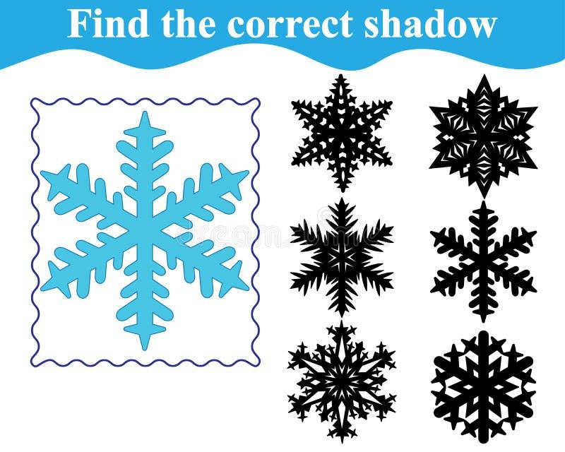 Juego educativo para los niños preescolares Silueta del hallazgo ilustración del vector