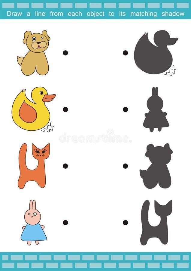 Juego a juego de la sombra (1) ilustración del vector