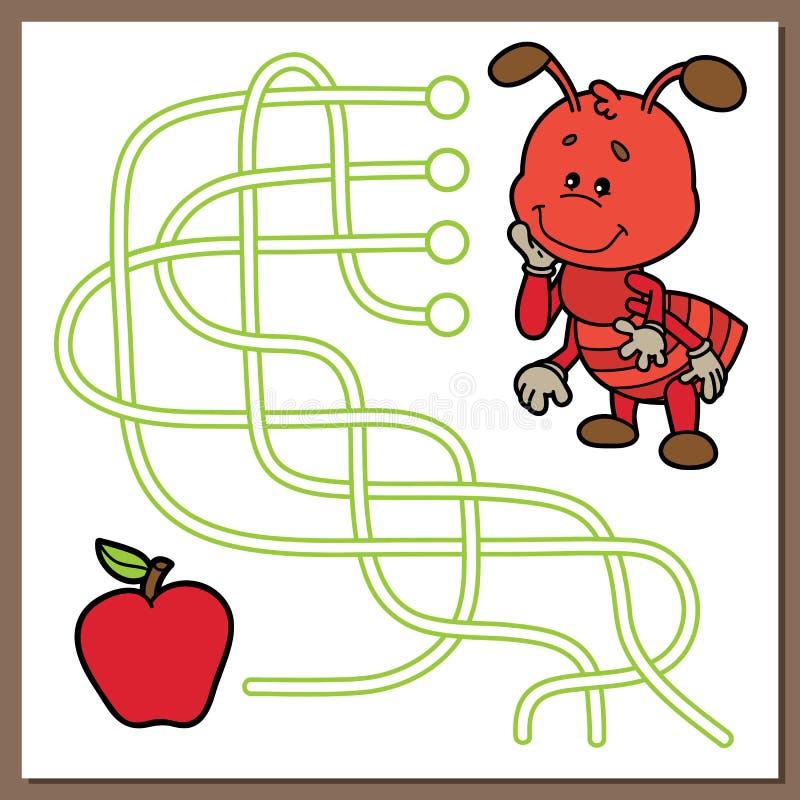 Juego lindo de la hormiga ilustración del vector. Ilustración de ...