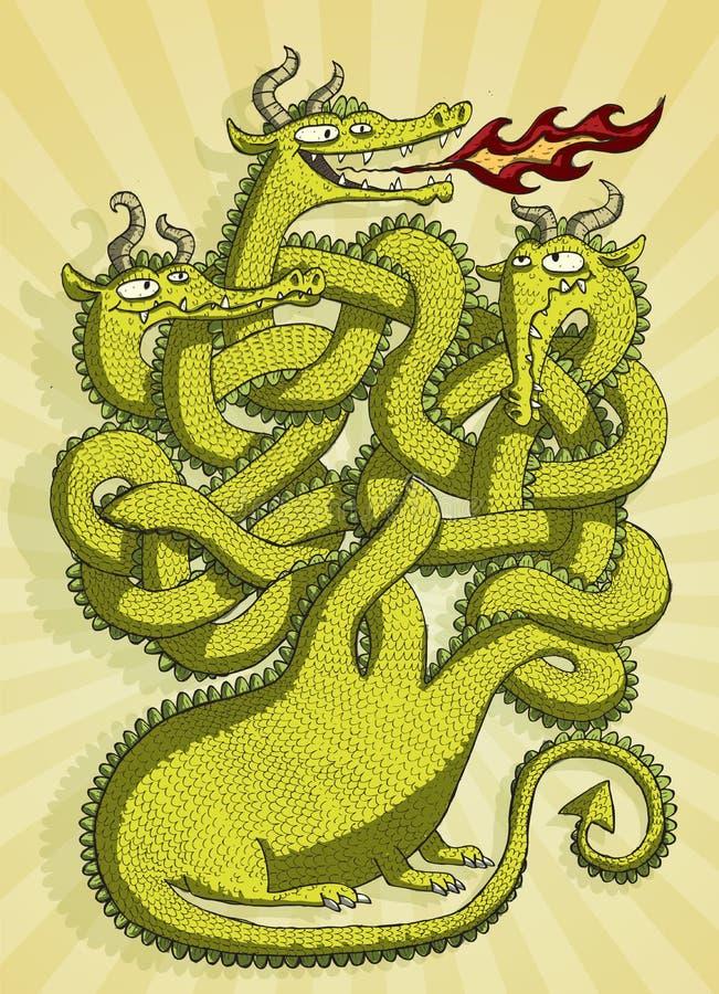 Juego lindo del laberinto del dragón stock de ilustración