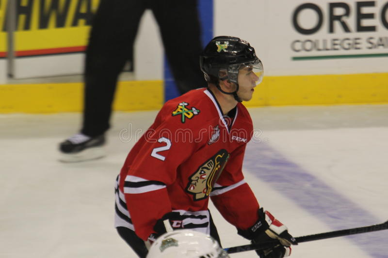 Juego occidental de la liga de hockey de Portland Winterhawks foto de archivo