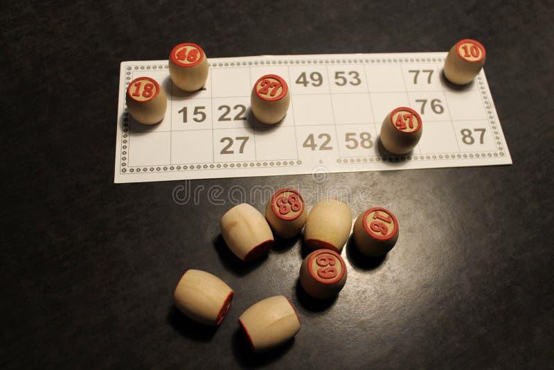 Juego ruso de la loteria imagen de archivo libre de regalías