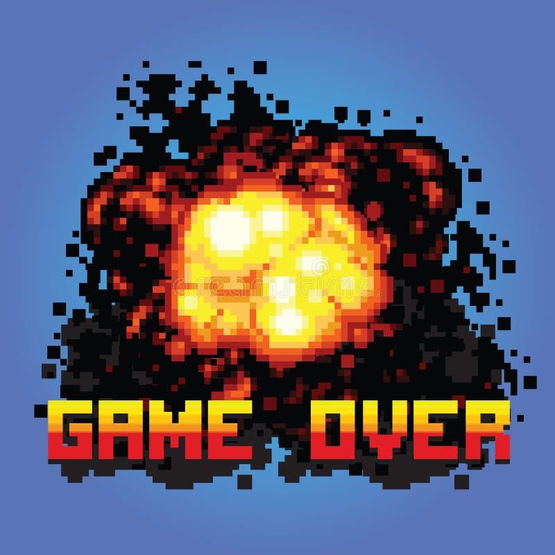 Juego sobre el ejemplo del arte del pixel del mensaje del auge libre illustration