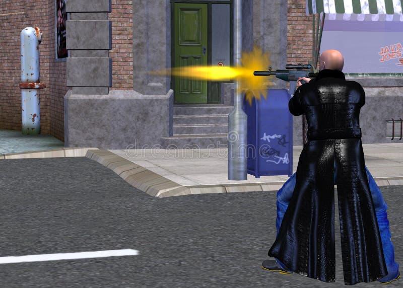 juego video violento ilustración del vector
