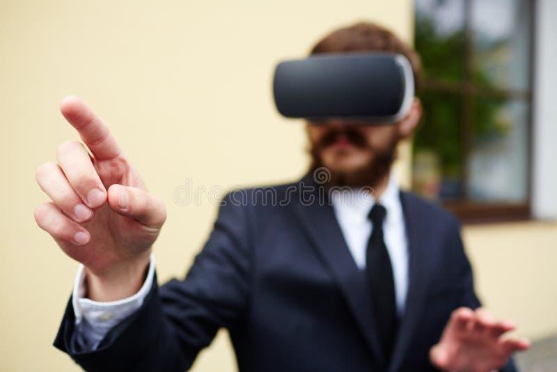 Juego virtual imágenes de archivo libres de regalías