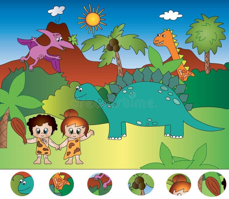 Juego visual stock de ilustración