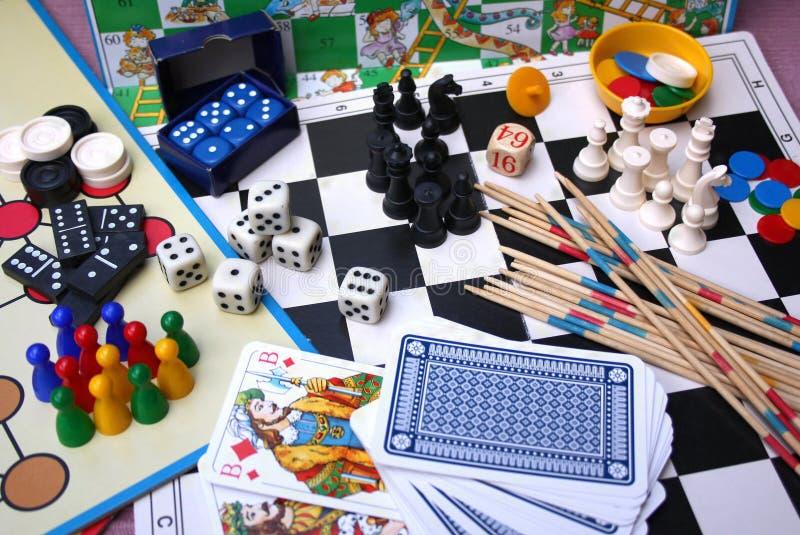 Juegos de mesa imágenes de archivo libres de regalías