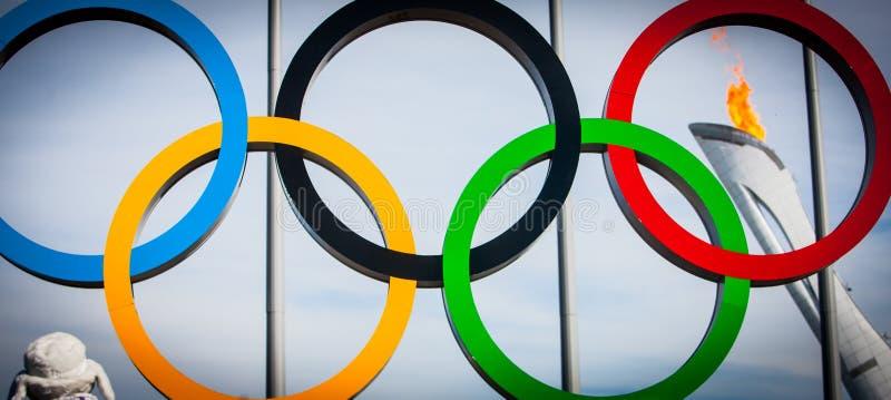 Juegos de olimpiada de invierno Sochi imagen de archivo