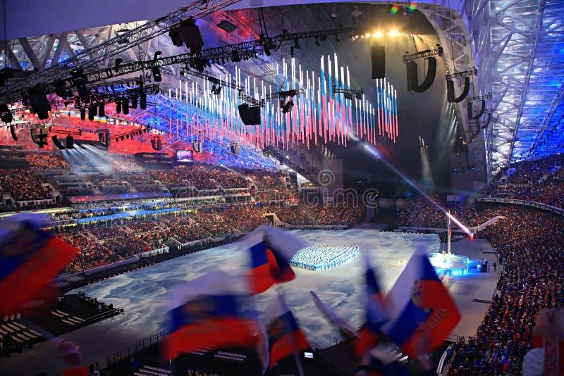 Juegos de Paraolympic que se abren en Sochi 2014 fotografía de archivo