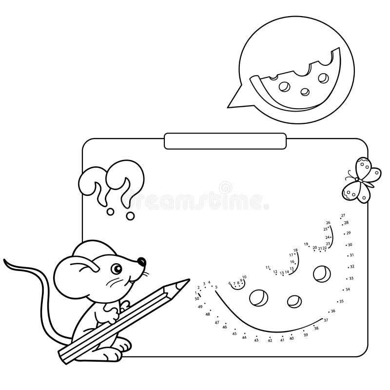 Juegos educativos para los niños: Juego de números Queso ilustración del vector