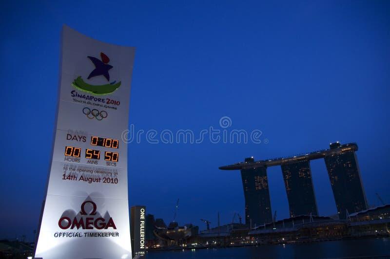 Juegos Olímpicos de la juventud, Singapur 2010 imagen de archivo