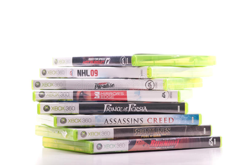 Juegos video de Xbox 360 imagen de archivo libre de regalías