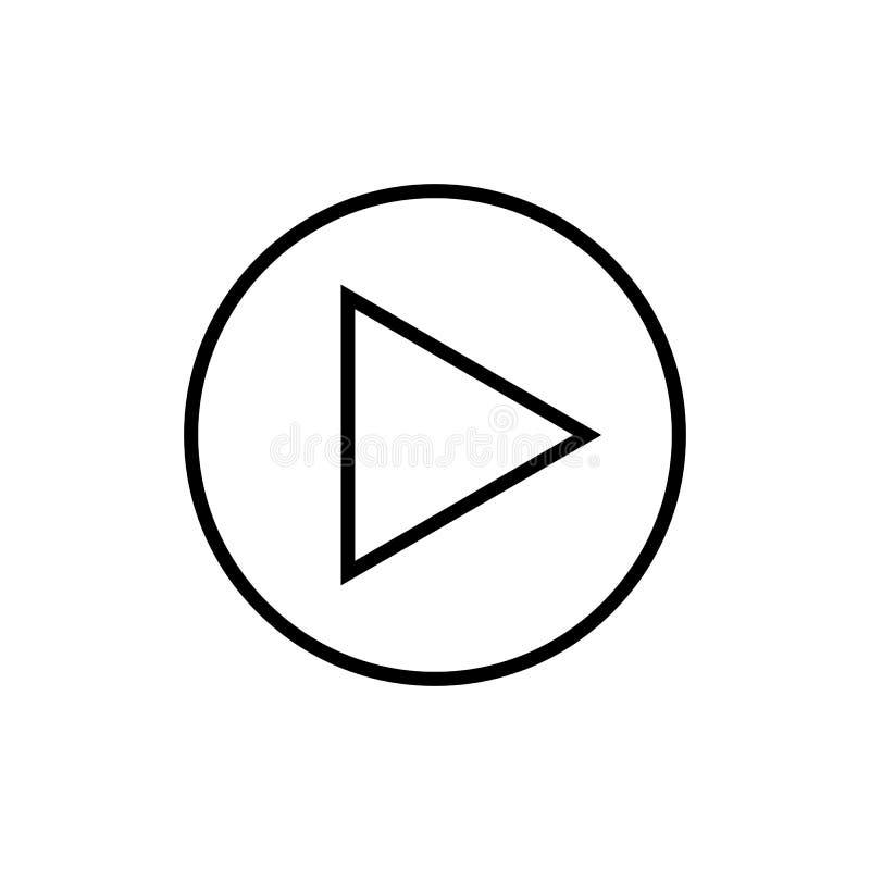Juegue ejemplo social del pictograma del símbolo del logotipo de la muestra del botón de las multimedias del vector del icono del ilustración del vector