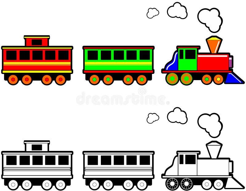 Juegue el tren ilustración del vector