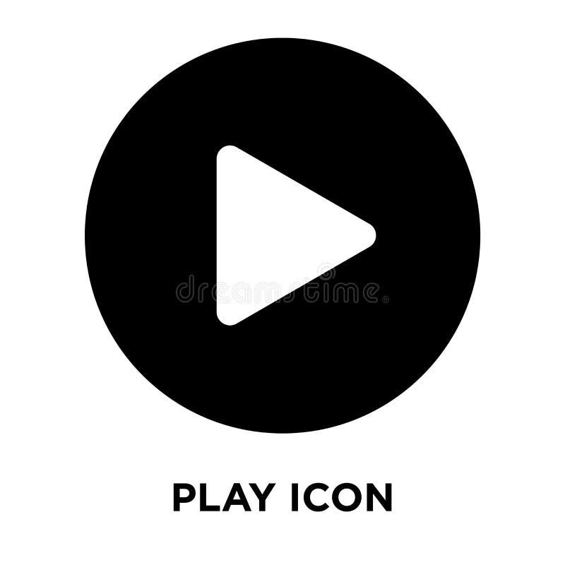 Juegue el vector del icono aislado en el fondo blanco, concepto del logotipo de P libre illustration