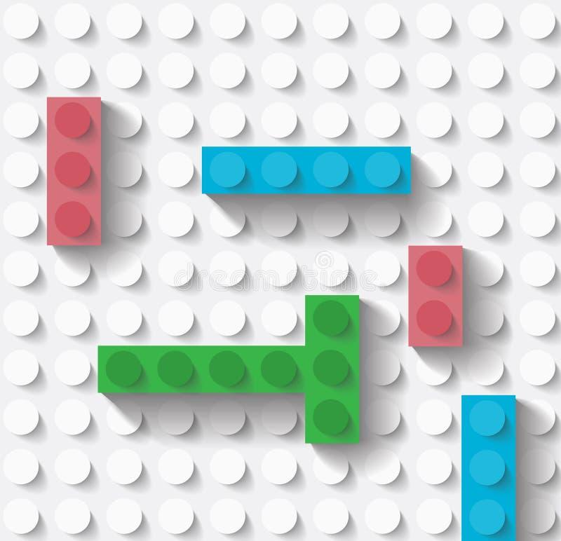 Juegue los bloques huecos stock de ilustración