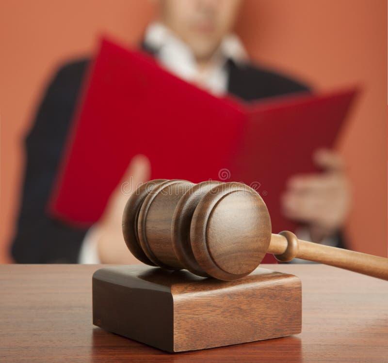 Juez masculino fotografía de archivo