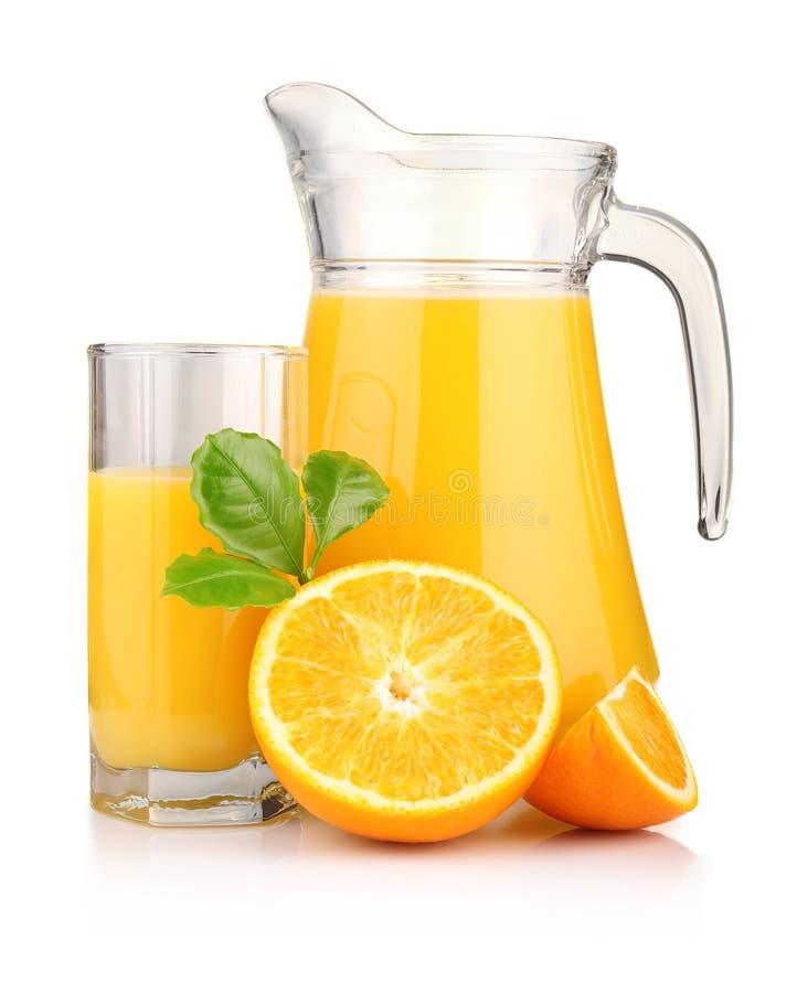 Free Jug, Glass Of Orange Juice And Orange Fruits I Royalty Free Stock Images - 18624229