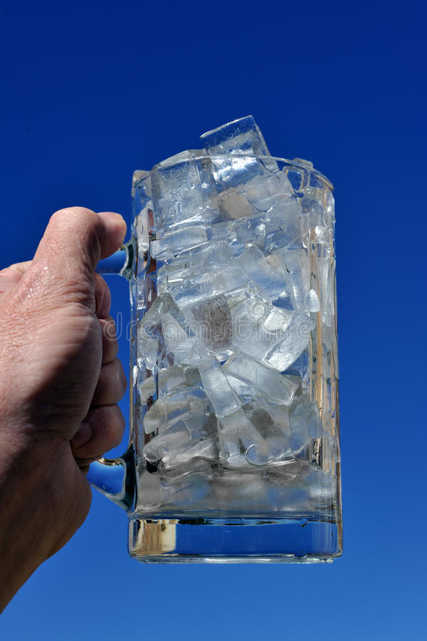 Jug Of Ice Stock Photo
