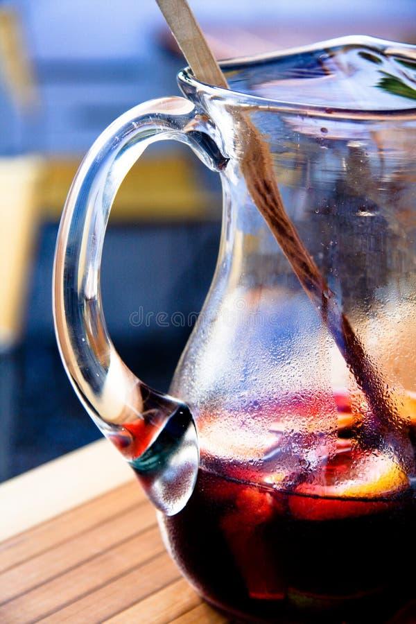 The jug of Sangria stock photos
