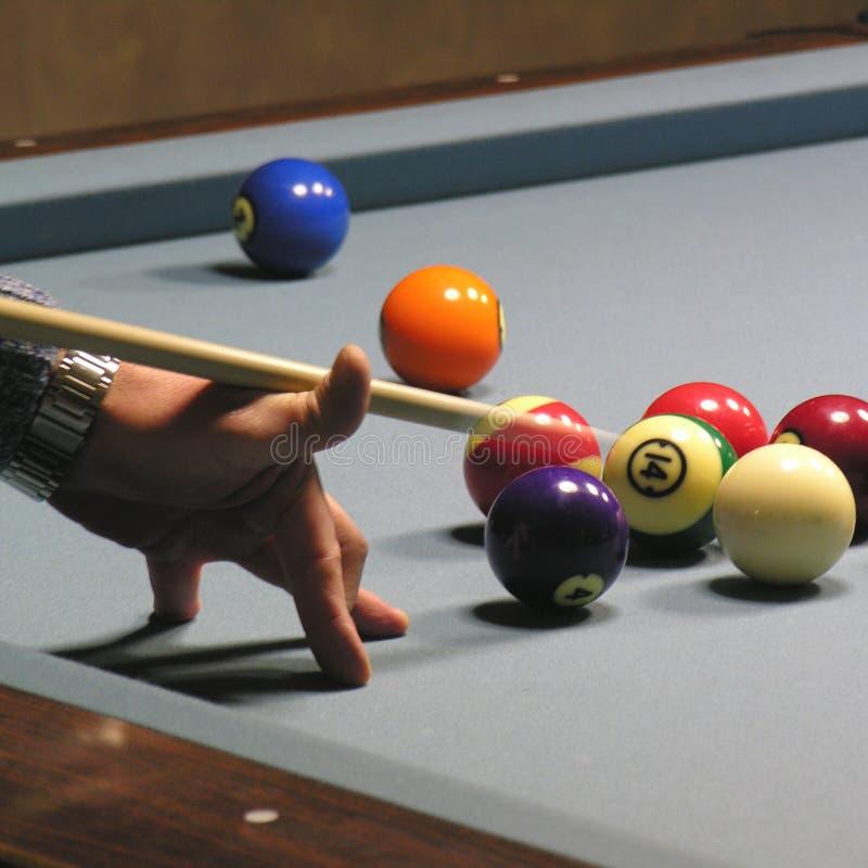 Jugador 01 de la piscina imagenes de archivo